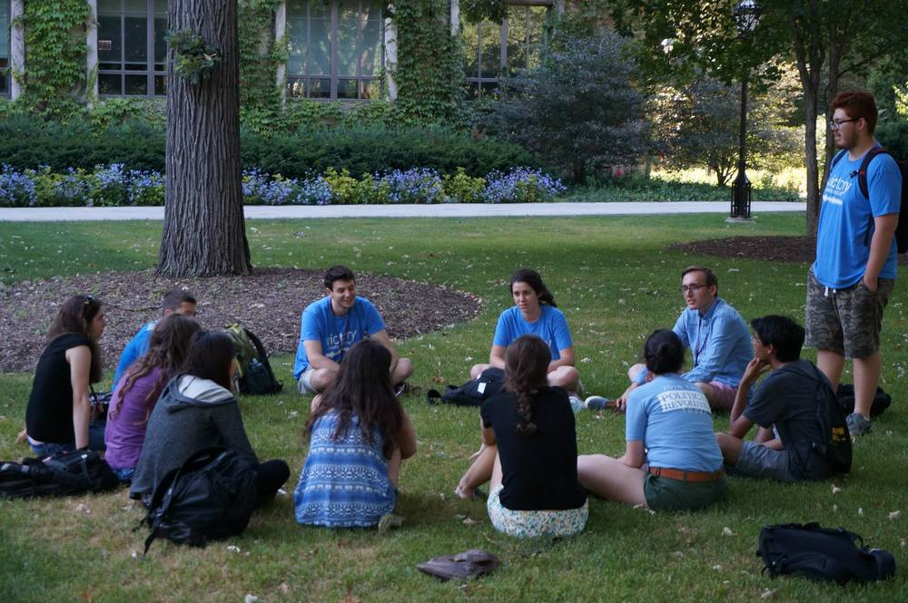 The Cowger/Nebel/Theis/Quiroz lab gets to know each other on the first day of VBI Chicago.
