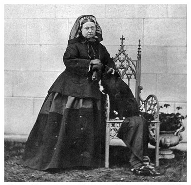 "Normal   0           false   false   false     EN-US   X-NONE   X-NONE                                                                                Normal   0           false   false   false     EN-US   X-NONE   X-NONE                                                                                  Normal   0           false   false   false     EN-US   X-NONE   X-NONE                                                                           Queen Victoria c.1867, six years after Albert's death. Even the dog looks sad.                                                                                                                                                                                                                                                                                                    /* Style Definitions */  table.MsoNormalTable 	{mso-style-name:""Table Normal""; 	mso-tstyle-rowband-size:0; 	mso-tstyle-colband-size:0; 	mso-style-noshow:yes; 	mso-style-priority:99; 	mso-style-parent:""""; 	mso-padding-alt:0in 5.4pt 0in 5.4pt; 	mso-para-margin-top:0in; 	mso-para-margin-right:0in; 	mso-para-margin-bottom:10.0pt; 	mso-para-margin-left:0in; 	line-height:115%; 	mso-pagination:widow-orphan; 	font-size:11.0pt; 	font-family:""Calibri"",""sans-serif""; 	mso-ascii-font-family:Calibri; 	mso-ascii-theme-font:minor-latin; 	mso-hansi-font-family:Calibri; 	mso-hansi-theme-font:minor-latin;}"