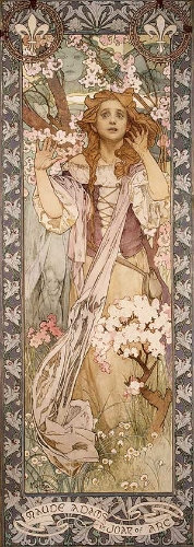 Maude Adams (1872-1953) as Joan of Arc, 1909, Alphonse Mucha