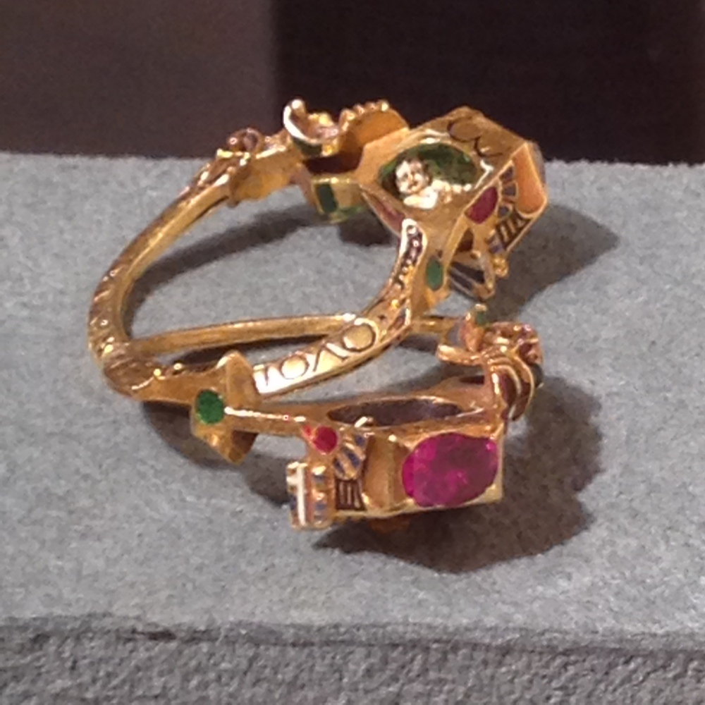 Renaissance gimmel ring with Memento Mori; Germany, dated 1631.