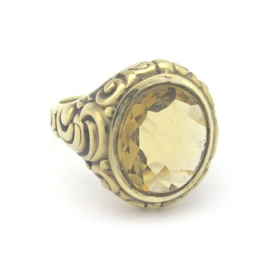 Victorian 15k gold and mixed cut citrine ring, at Gray & Davis.
