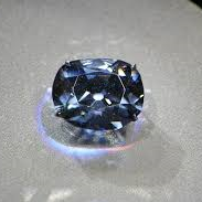 The Hope Diamond, which lives at the  Smithsonian.