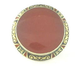 Arts and Crafts Carnelian and Enamel Ring, available in our  online shop .