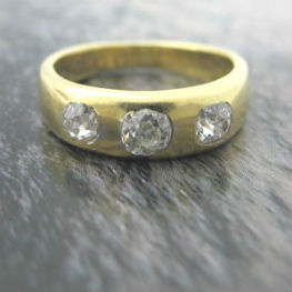 Victorian Three Diamond Gypsy Ring, available in our  online shop .