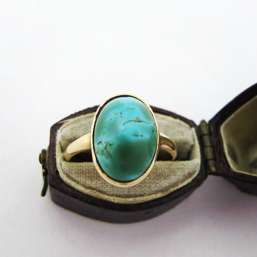 Arts & Crafts turquoise ring, in our online shop.