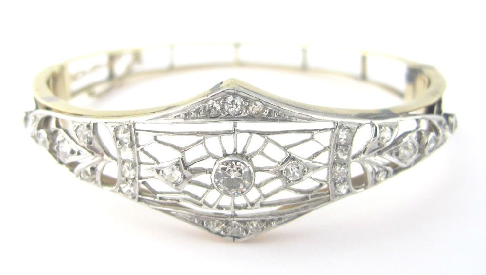 Early 20th century diamond bangle bracelet, available at Gray & Davis.