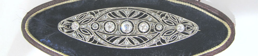 Edwardian diamond brooch, available in our online shop.