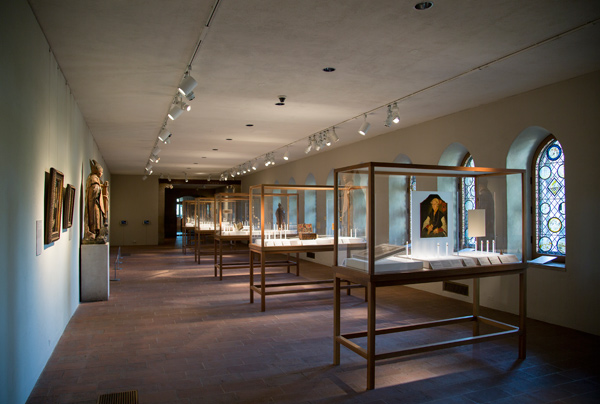 View of the  Treasures and Talismans  exhibition hall.