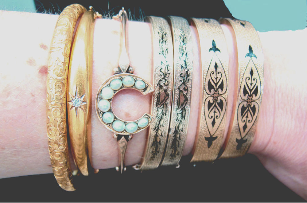 A collection of bracelets