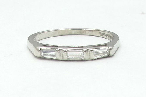 Platinum Baguette Wedding Band — Gray & Davis: Antique & Custom Jewelry