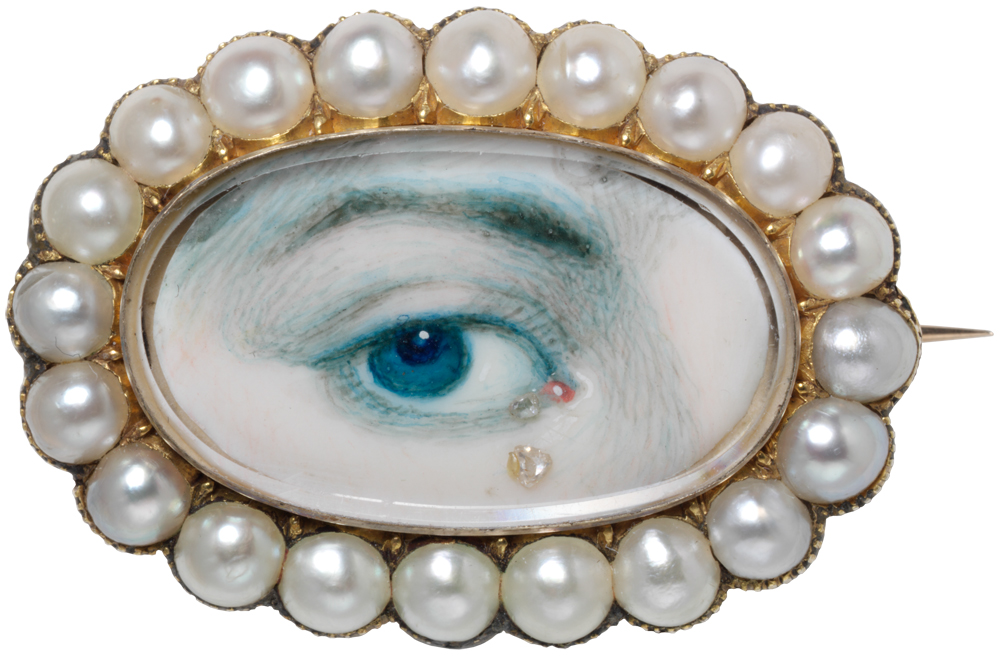 """Lover's Eye"" brooch. English, early 19th century. Victoria & Albert Museum."