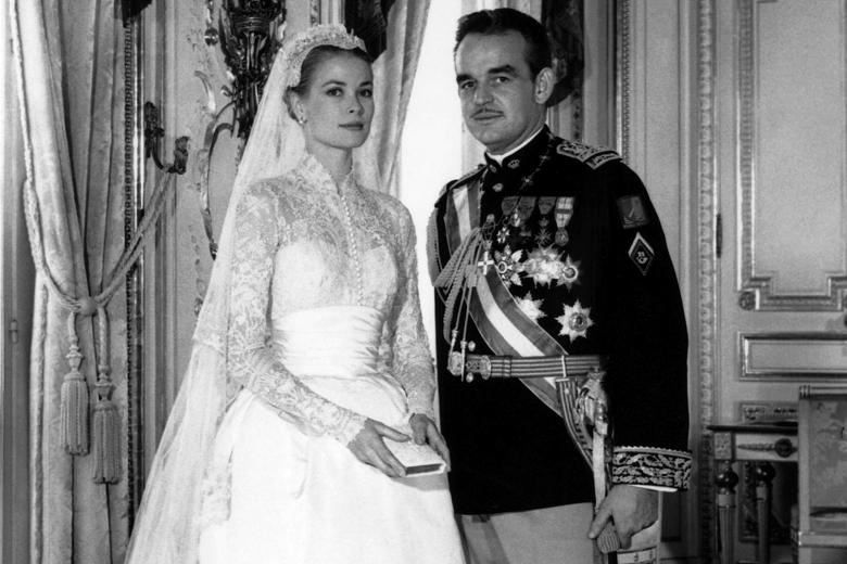 Historic Weddings Grace Kelly and Prince Rainier of Monaco Gray