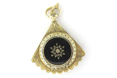 Victorian gold diamond watch pendant gray davis antique victorian gold diamond watch pendant aloadofball Gallery