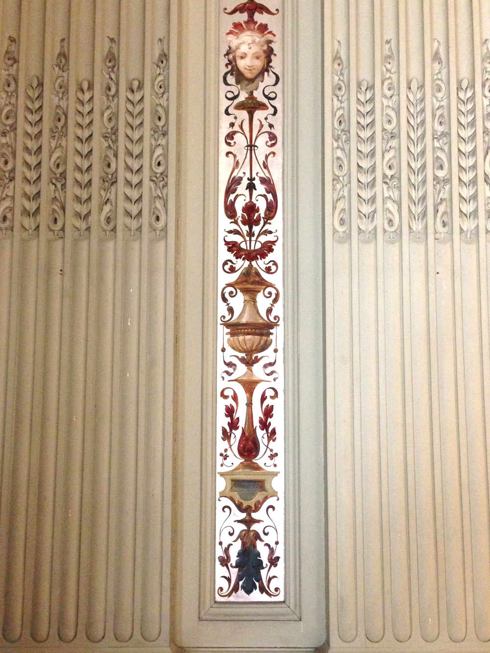 Detail of wall paneling in the Morning Room.