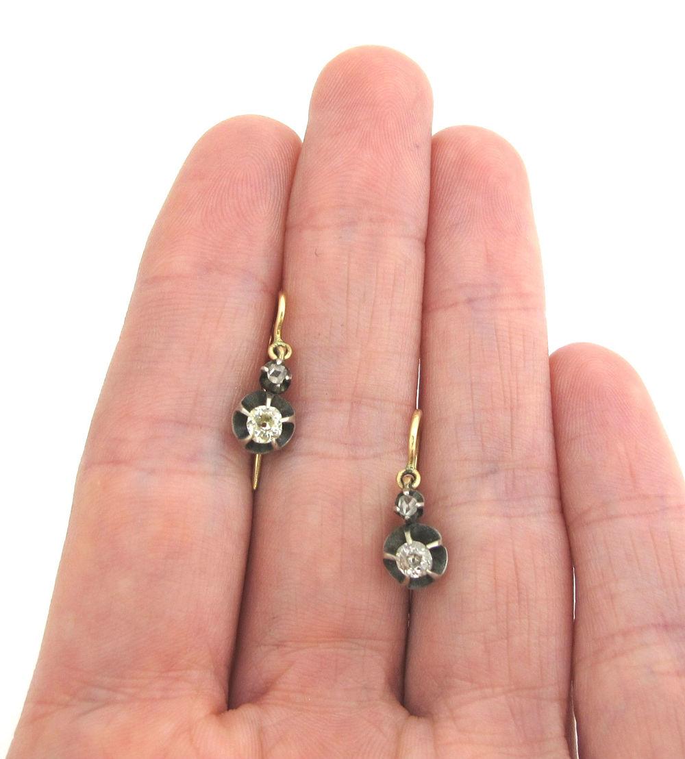 Antique Russian Diamond Earrings — Gray & Davis: Antique & Custom ...