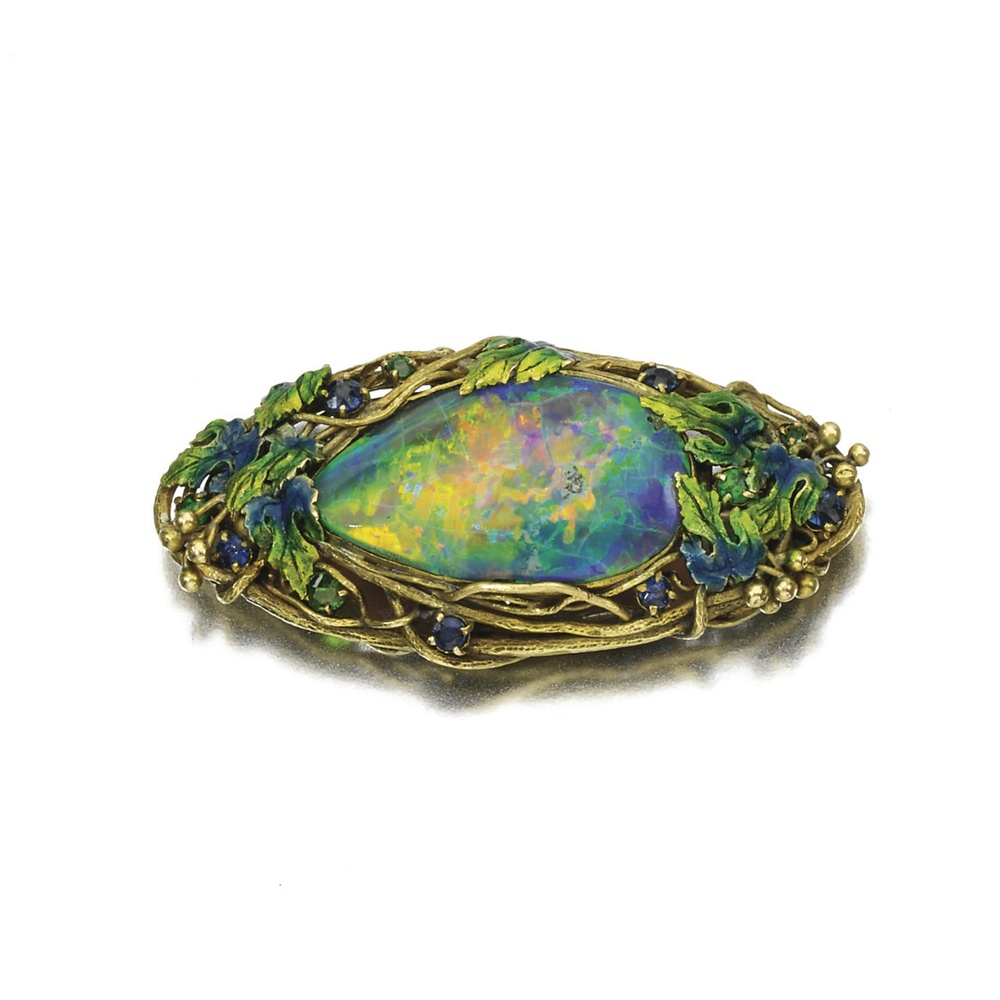 This Opal brooch by Louis C. Tiffany sold at Sotheby's for just over $14,000 in 2013.