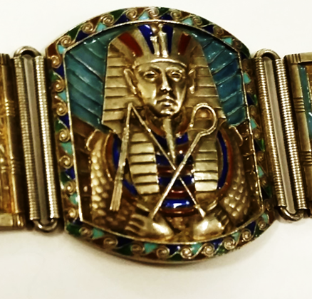 Bracelet; close up of Tut's sarcophagus