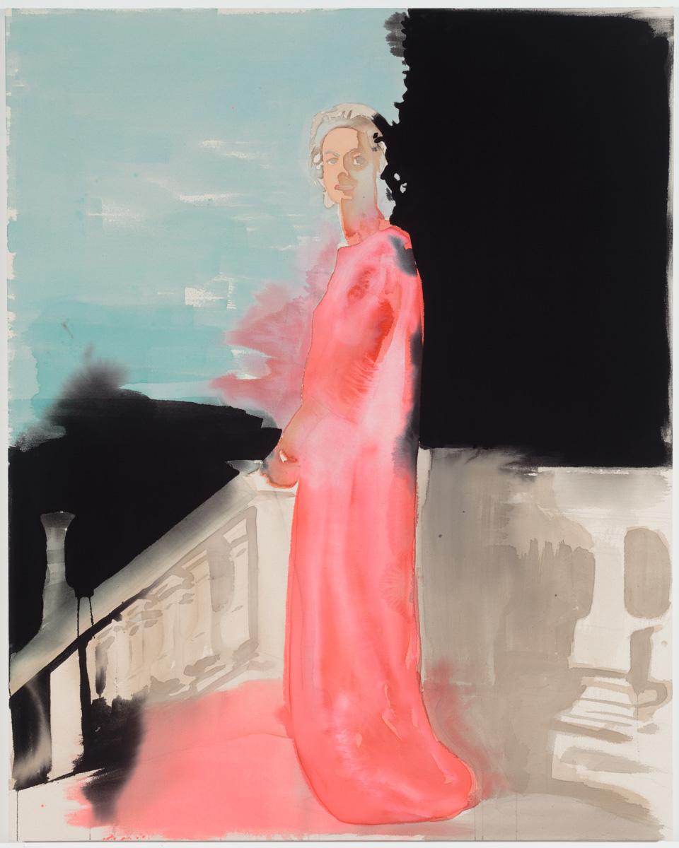 """MARELLA AGNELLI• 2014 • acrylic and graphite on unprimed canvas • 60"""" x 48"""""""