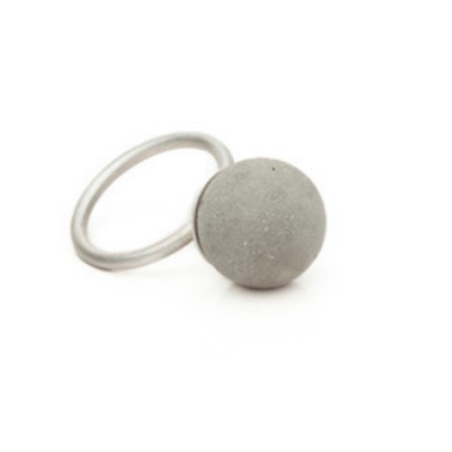 For the Structural Woman in your life! Cement Pearl Ring