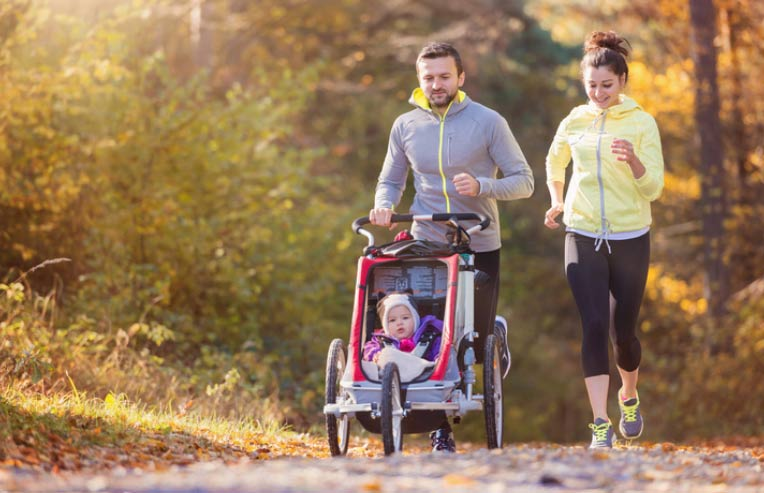 Parents can get exercise with their kids