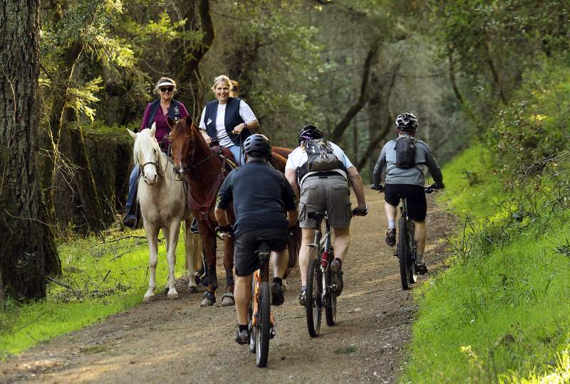 Trail will be non-motorized & multi-use. A side trail for horses will be developed.
