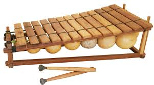 The Balafon resembles the xylophone or African Marimba. It is a percussion instrument normally found in Ivory Coast, Ghana, Mali, and Burkina Faso. It is made from wooden planks that are loosely bound by a string and placed over large gourds. Sound is produced by hitting it with miniature clubs/ mallets.