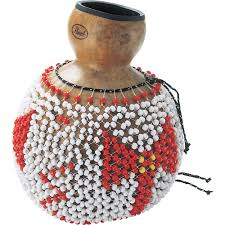 The Shekere is one of the most famous shakers in Africa. The instrument consists of closely woven beads that form a net. The net is placed around a gourd. Sound is produced by either shaking it or slamming it against the hands. The Shekere is mainly found in West Africa in countries such as Nigeria, Senegal, Ivory Coast, Togo, Ghana and many others.