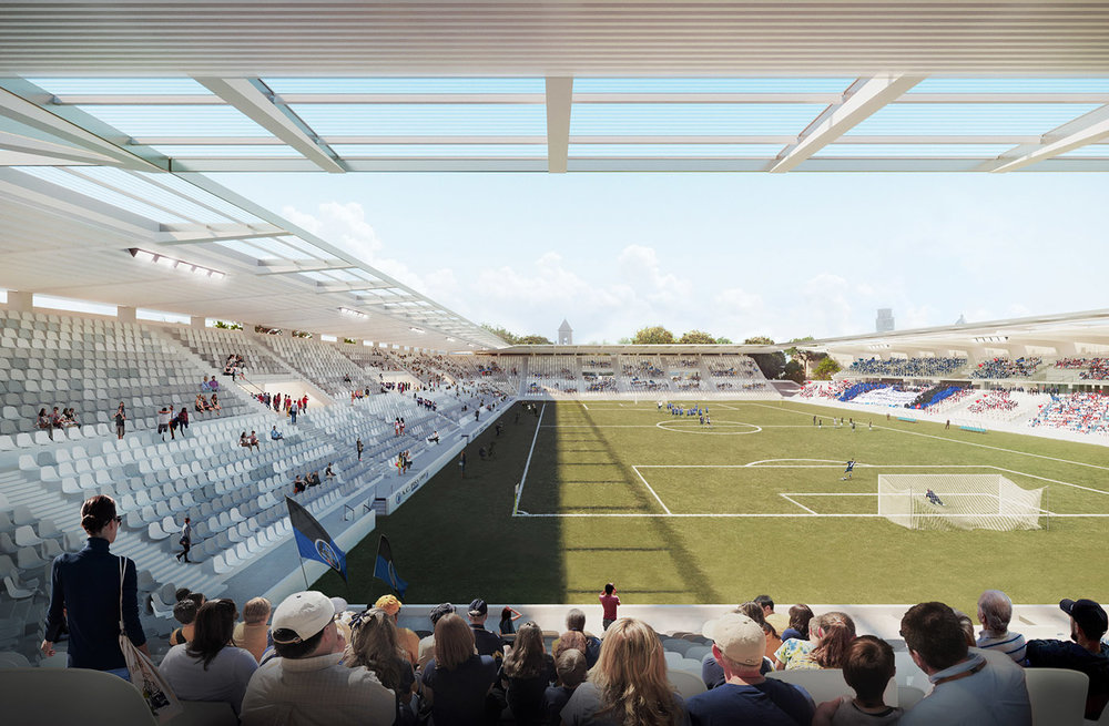 New winning Pisa Stadium project. Architectural Visualization by Atelier Crilo
