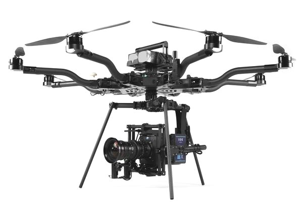 Freefly Alta 8 - The Freefly Alta 8 is our heavy lifter drone. With the ability to carry a payload up to 20 pounds we use this drone to hold an Alexa mini and another cinema grade cameras that are too large for other drones.