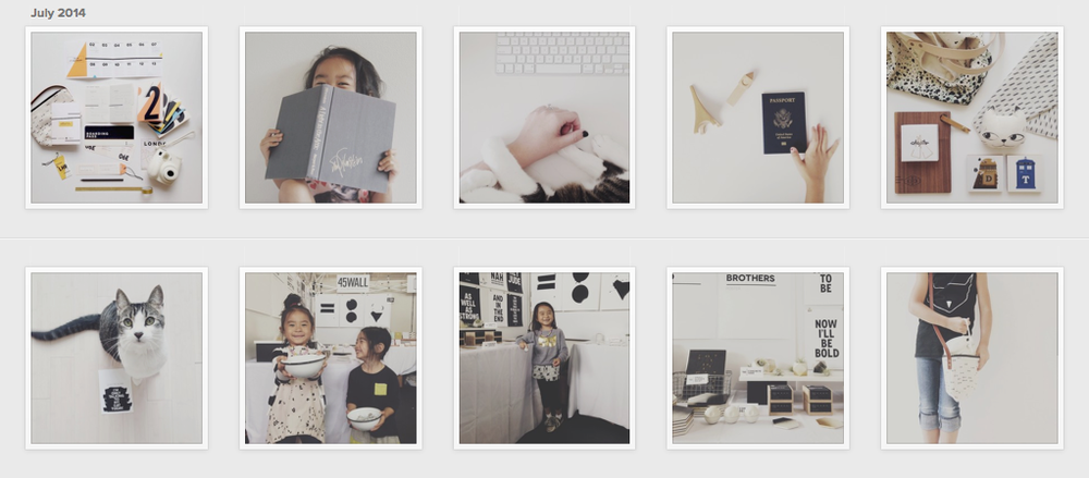 Follow  45Wall Design  on Instagram. Traci Yau uses a consistent palette of soft white and black.