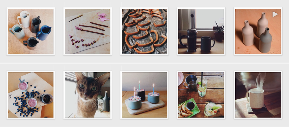 Follow  Mazama  on Instagram. They use a consistent palette of blue, grey, and brown.