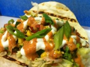 Loaded Vegetarian seasonal veg taco