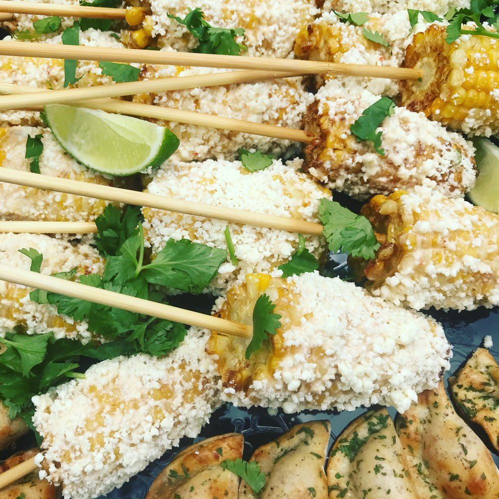 Mexican Street Corn/ Roasted Garlic Aioli/ Lime/Cotija Cheese