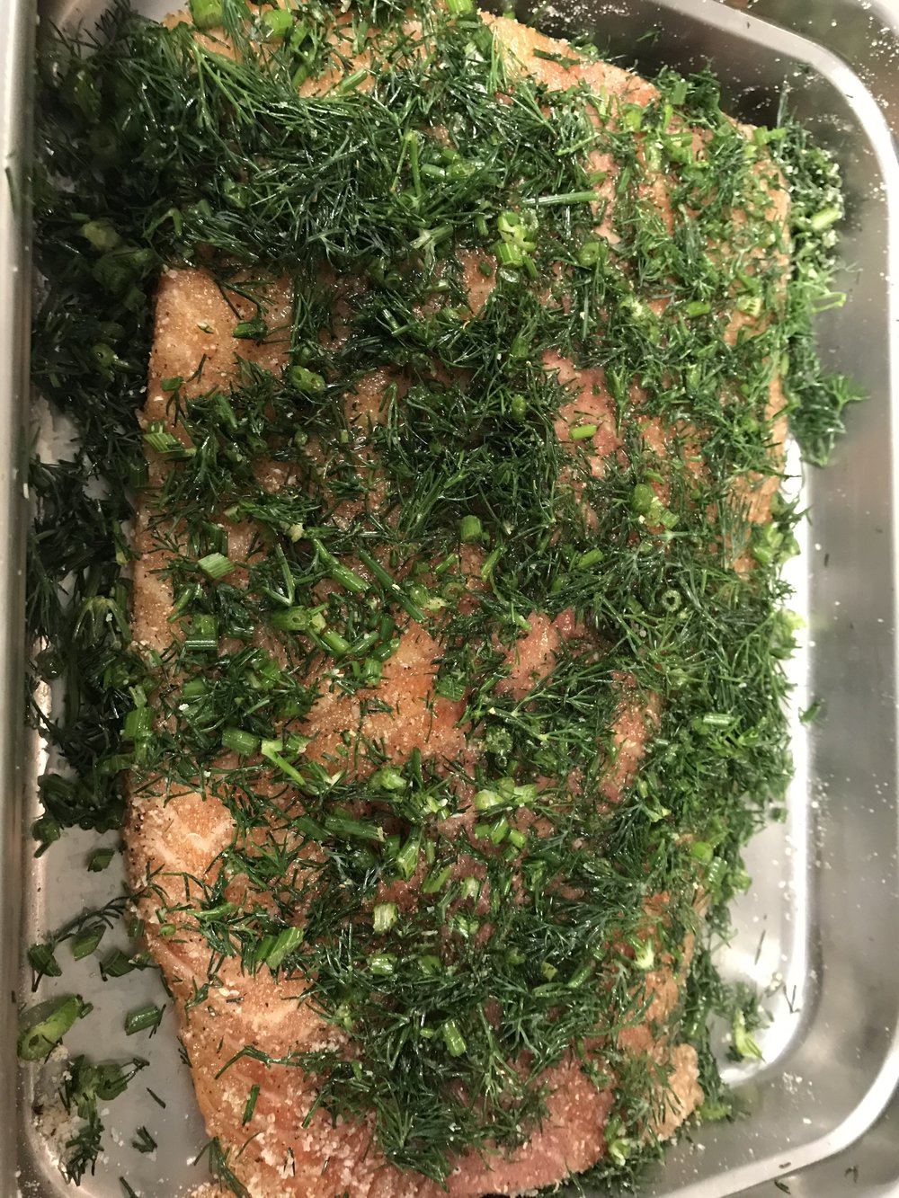 Local Dill/Aquavit/Atlantic Salmon Gravlax