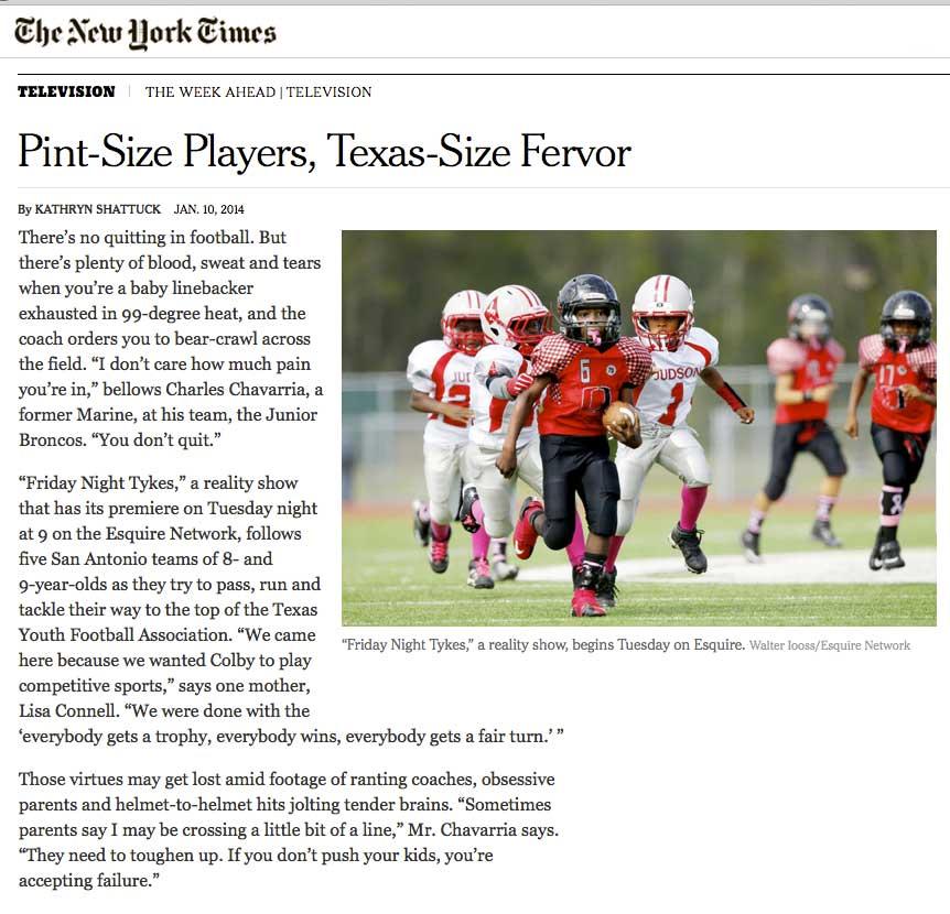 New York Times print edition. January 12, 2014