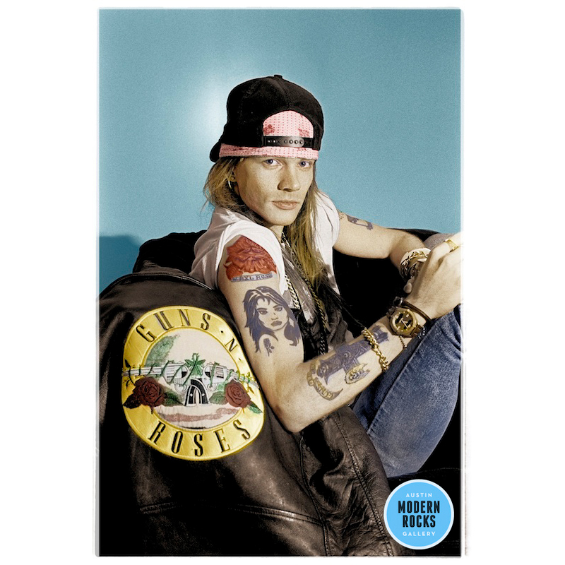 Axl Rose Guns N' Roses color portrait by Ian Tilton — Buy Signed Limited  Edition Prints