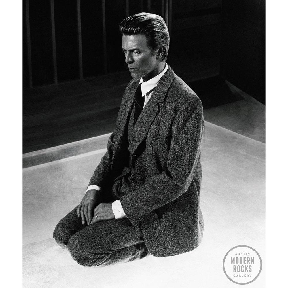 Bowie Kneeling by Marcus Klinko