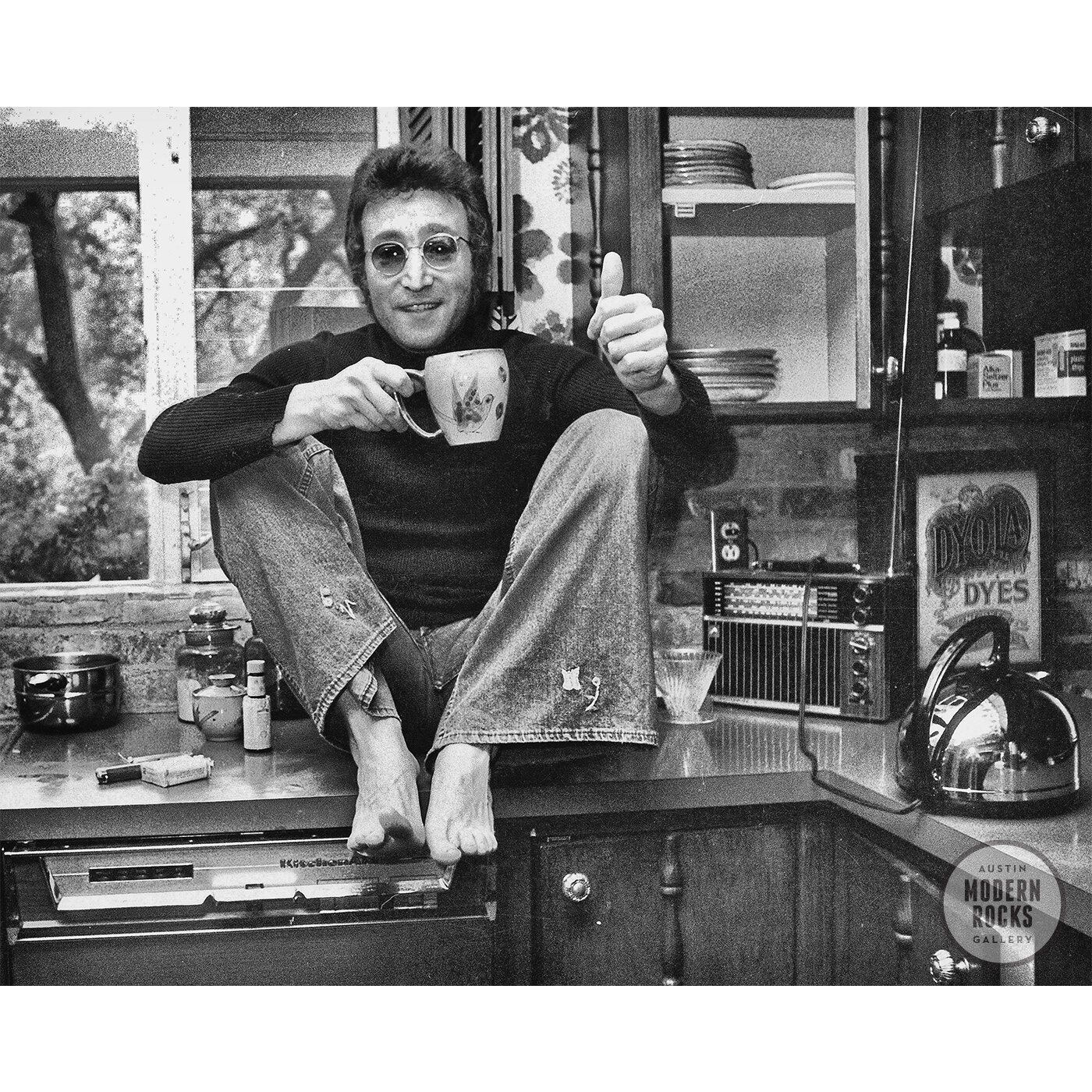 John Lennon In The Kitchen By Michael Brennan Buy Signed Limited Edition Prints