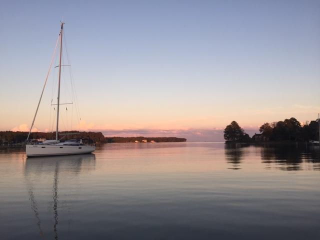 Anchored at Fishing Bay Yacht Club (Deltaville)