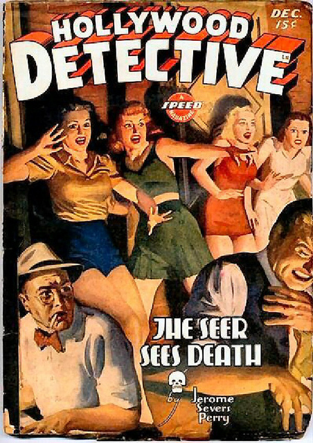 "Nope. Real life is nothing at all like a detective thriller. ""140 Hollywood Detective, Dec. 1943,"" on Creative Commons."
