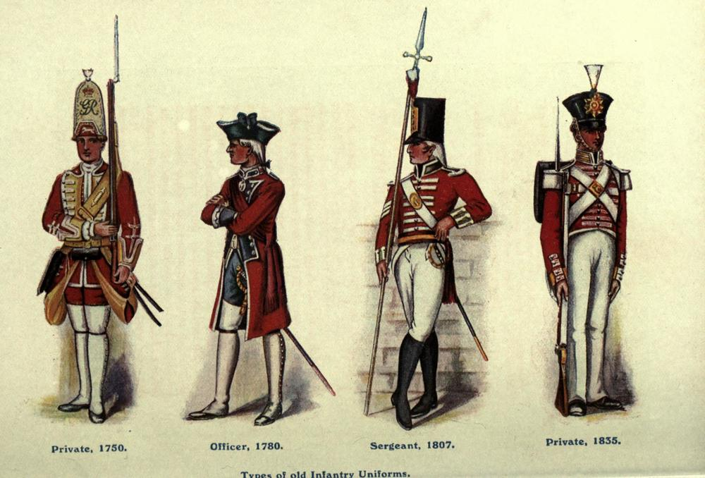 British red coats. Scourge of the colonial existence. Reasons for the Second Amendment. Nowhere near a threat, now.