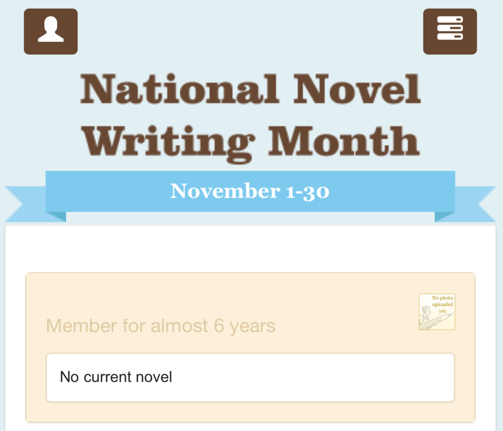 Witness my shame. OK, but it might actually be simply stating that I haven't written a novel for 2015. Cancel my shame.