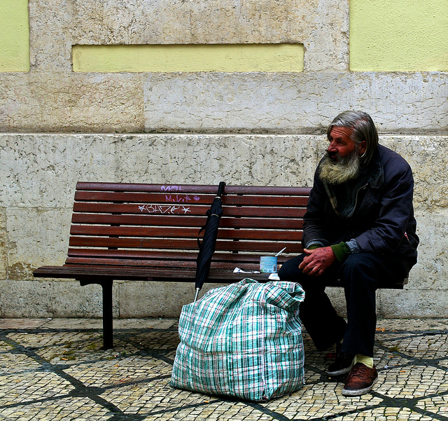 Homeless, by  Pedro Ribeiro Simões , on Creative Commons