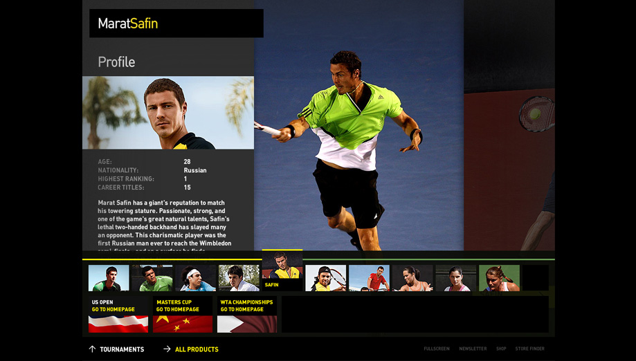 safin - player profile