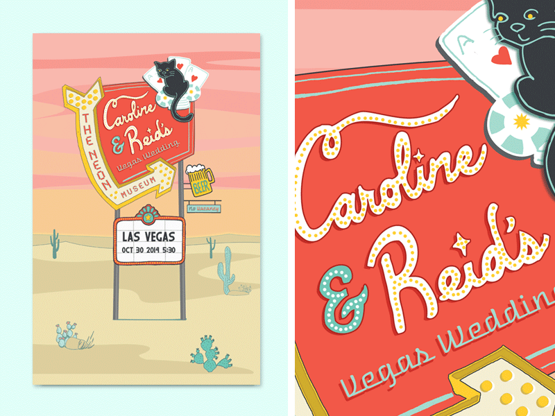 Caroline & Reid's Vegas Wedding Poster