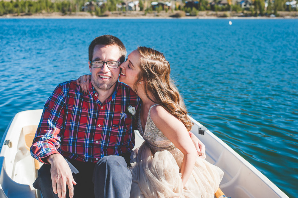 When you hop in a boat tied to the docks for some silly bride and groom photos - my favorite! | Keeping Composure Photography