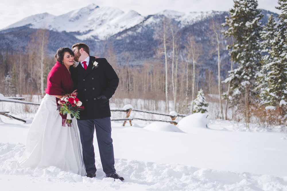 Frisco, Colorado winter elopement in January