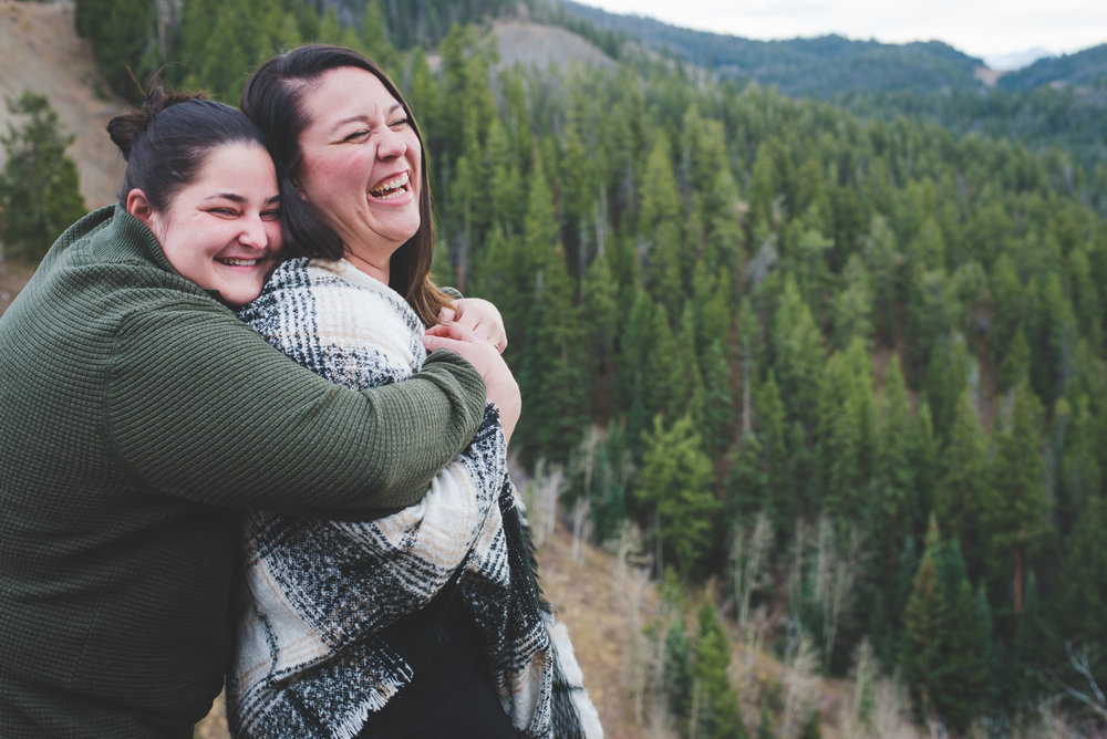big bear hugs and giggles are the best! there's a comfort and love so pure you can't miss it!