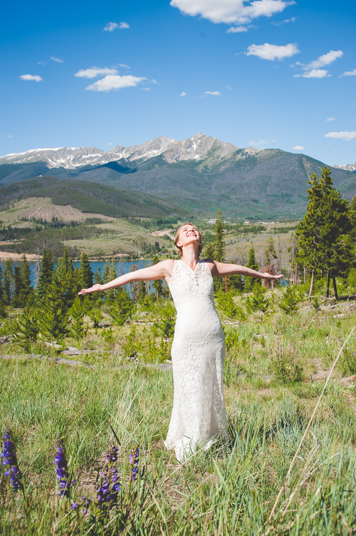 pure excitement from this bride before her outdoor wedding ceremony at Sapphire Point