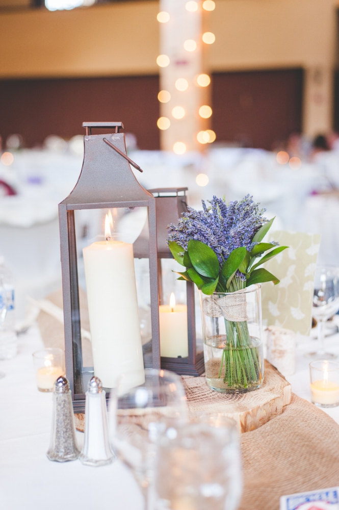 simple and elegant table setting at a Copper Mountain wedding in Grand Hall